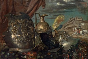 Giorgio De Chirico – Corazze con Cavaliere – 1940