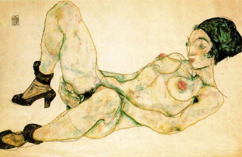 woman-with-green-turban-by-Egon-Schiele-01914