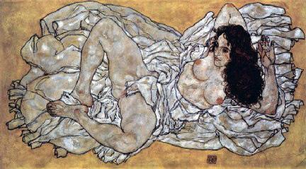 Egon Schiele- Donna Distesa - 1917