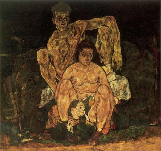 Egon Schiele- La Famiglia- 1917