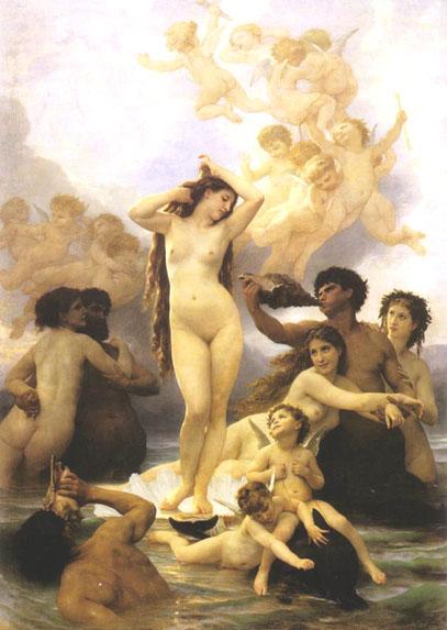Bouguereau - La nascita di Venere 1879