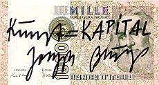 "Joseph Beuys, ""Kunst=Kapital"" (1982)."