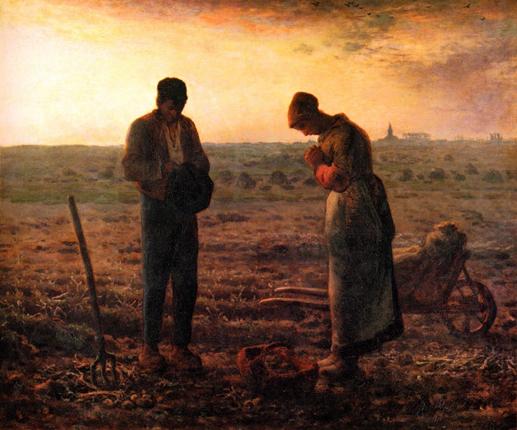 Millet, Jean-François - L'Angélus (1858)