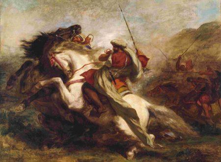 Delacroix – Collisione Di Cavalieri Arabi – 1844