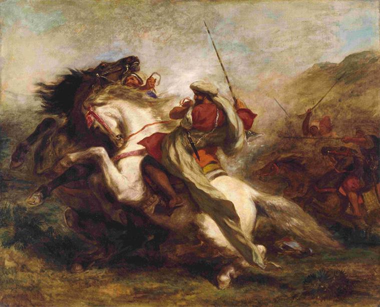 Plate-8-Delacroix-Collision-of-Arab-Horsemen