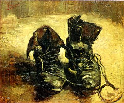 dipinto le scarpe di van gogh