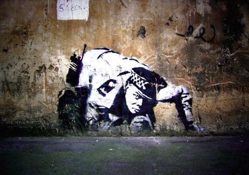 I graffiti di banksy guerrilla art mcarte