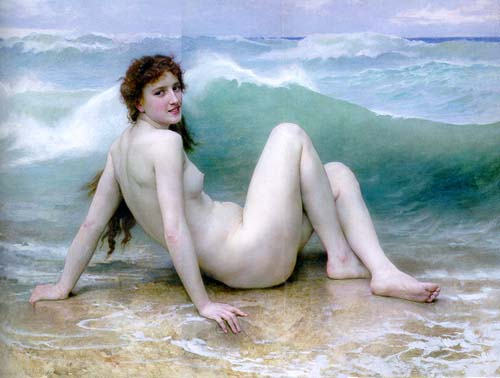 jeromack11-4-2William Adolphe Bouguereau La Vague 1896 oil on