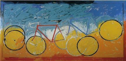 mario_schifano_senza_titolo_biciclette_1982