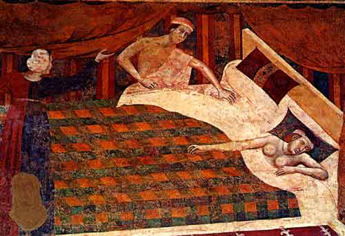 1305 e il 1311 da Memmo di Filippuccio, nella Camera del Podestà situata all'interno della Torre Grossa del Palazzo Comunale1300
