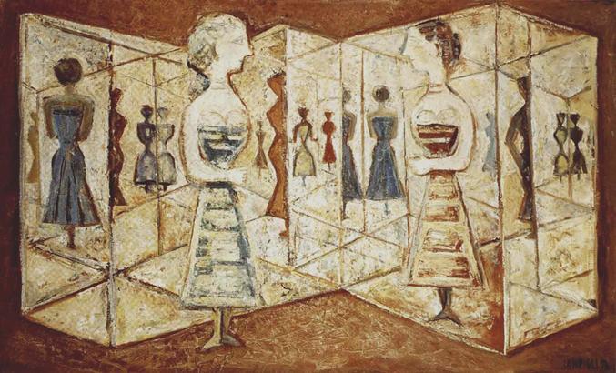 Massimo-Campigli-Le-labyrinthe-de-glaces-1956-olio-su-tela