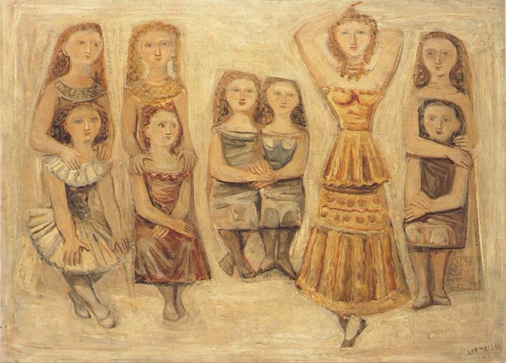 Massimo-Campigli-Scuola-di-danza-1941-olio-su-tela-110-x-150-cm