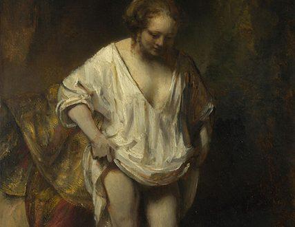 Rembrandt – Giovane Donna Al Bagno In Un Ruscello – 1654