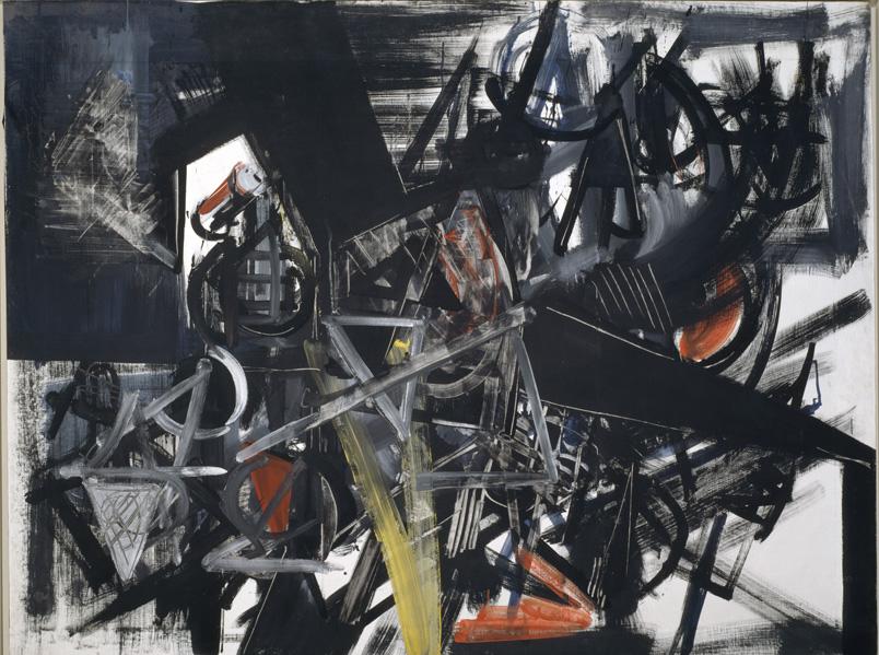Emilio Vedova Image of Time (Barrier) (Immagine del tempo [Sbarramento]) 1951