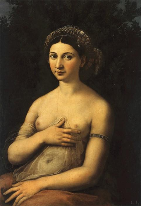 Raffello-Sanzio-La-Fornarina-olio-su-tela-1518-1519