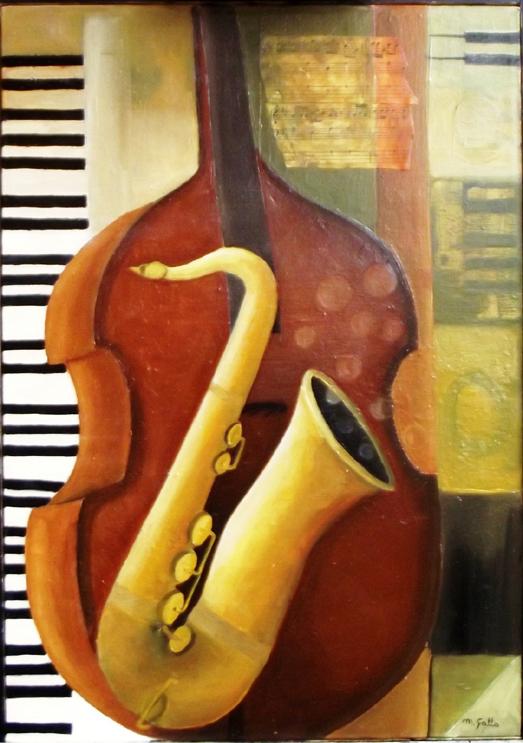 Melody Jazz olio su tela 35 x 50