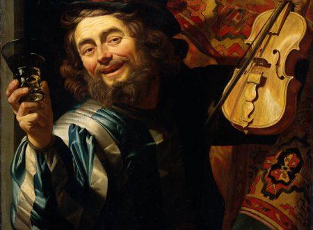 Gherardo  Delle Notti – Allegro Violinista Con Bicchiere Di Vino – 1623