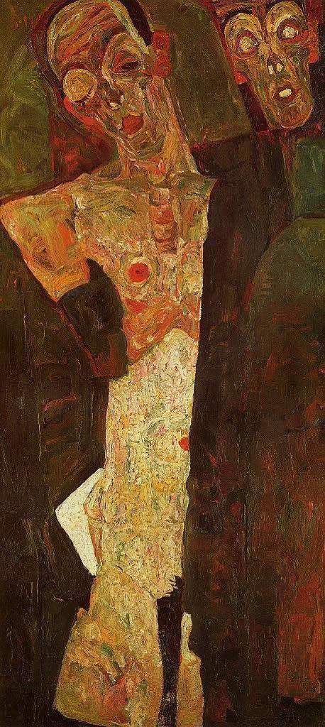 Egon Schiele, Prophets Double Self-Portrait 1911