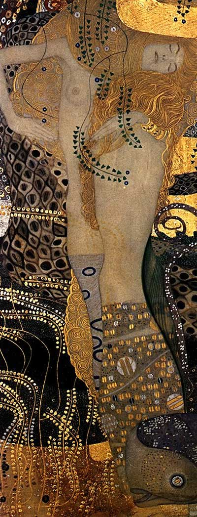 Gustav+Klimt+-+Water+Serpents+I+1904-07Bisce d'acqua 1904-1907