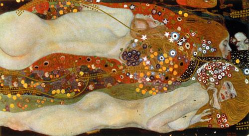 Kunstdruck - Gustav Klimt - Die feindlichen Gewalten und nagender Kummer