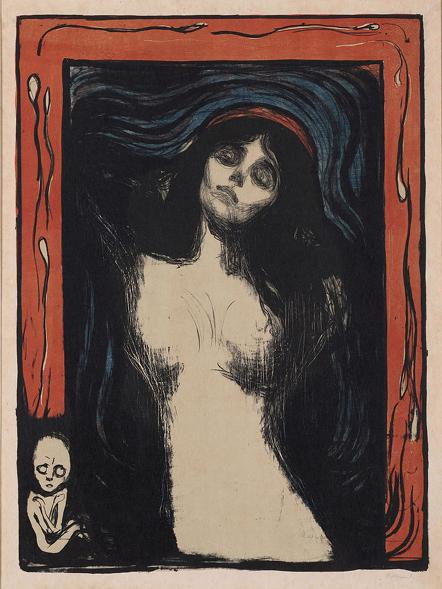 Edvard_Munch_-_Madonna_ohara museum of art 1895-1902 60.5x44.4