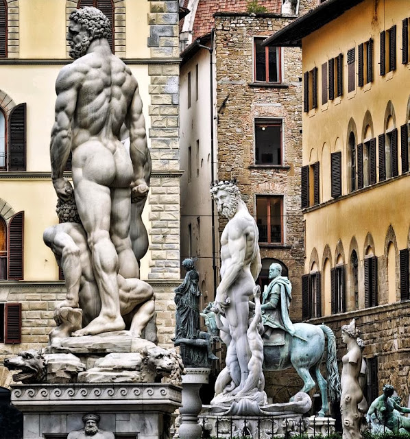 Firenze-Le-statue-di-Piazza-della-Signoria