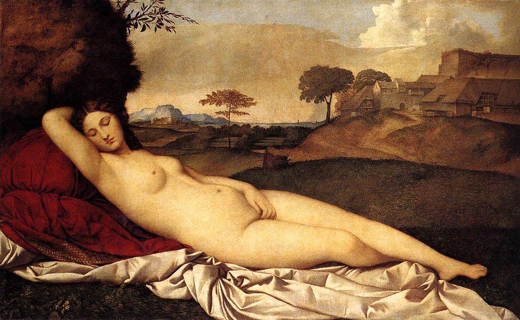 Giorgione, Venere dormiente 1508 Dresda