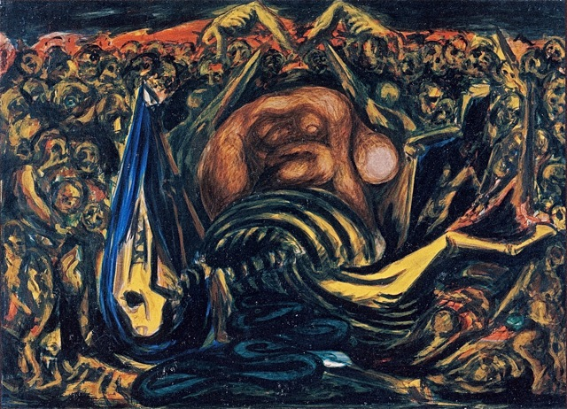 Jackson Pollock Untitled -Bald Woman with Skeleton- 1938-41.