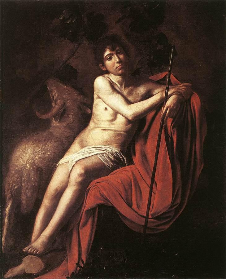 Caravaggio_Baptist_Galleria_Borghese,_Rome1610