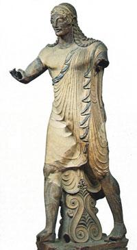 Apollo, 510-500 a.C., Museo di Villa Giulia, proveniente da Veio, Località