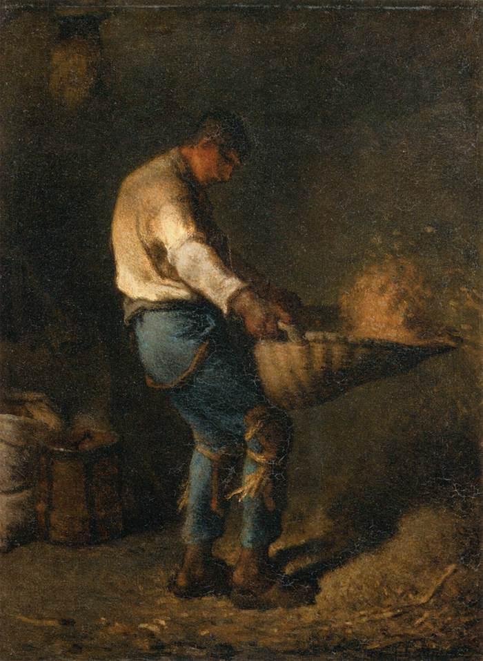 Jean-François_Millet_(II)_-il vagliatore-1848