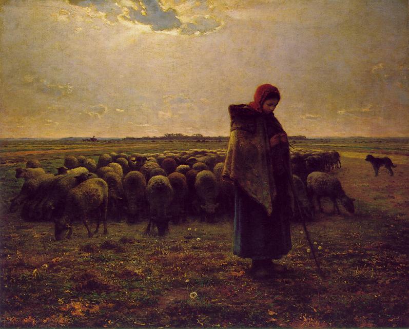 Jean-François_Millet_Pastora1864
