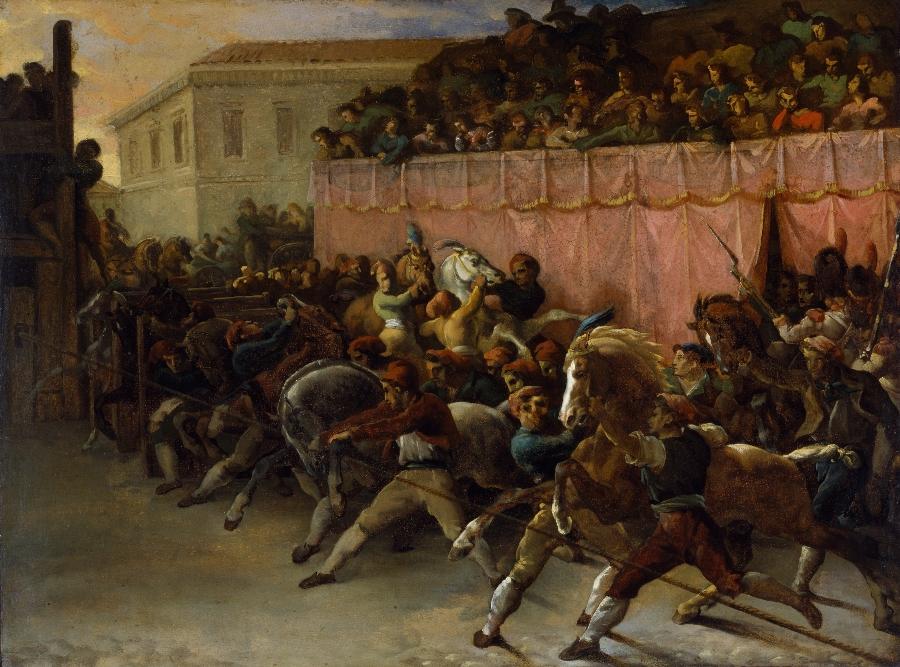 Gericault-La-corsa-dei-berberi-a-Roma