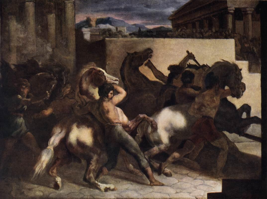 Riderless Horse Races (1817) Theodore Gericault Oil on canvas, 45 x 60 cm, Musée du Louvre, Paris