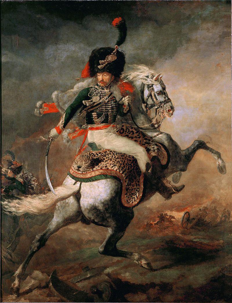 Ufficiale dei cacciatori a cavallo della guardia imperiale alla carica, (1812)