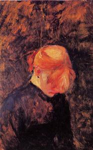 13 Henri de Toulouse-Lautrec (1864-1901) Carmen Gaudin Lowered Head 1885