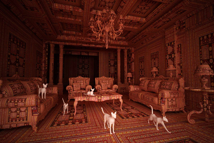 Farid Rasulov Dogs in the Living Room à la Galerie