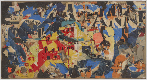 MIMMO-ROTELLA-Collage-12-1954-decollage-on-canvas