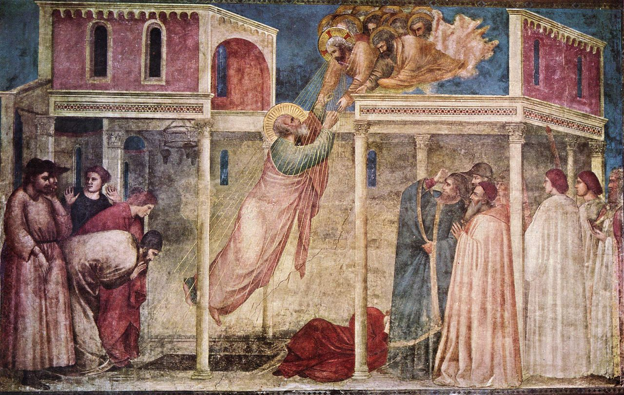 Assunzione di san Giovanni Evangelista, Cappella Peruzzi