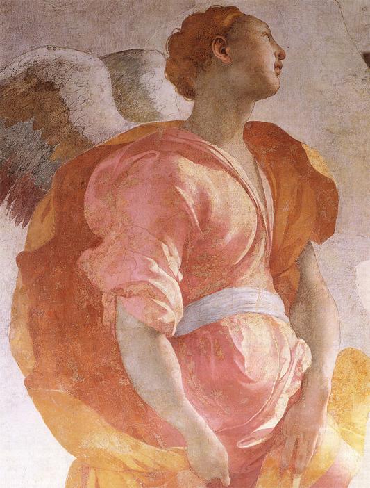 L'Annunciazione è un dipinto a fresco di Pontormo, databile al 1527-1528 circa e conservato nella Cappella Capponi nella chiesa di Santa Felicita a Firenze.