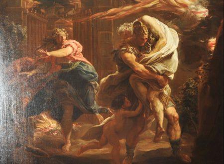 Pompeo Girolamo Batoni – Enea e Anchise in fuga da Troia in fiamme – 1748