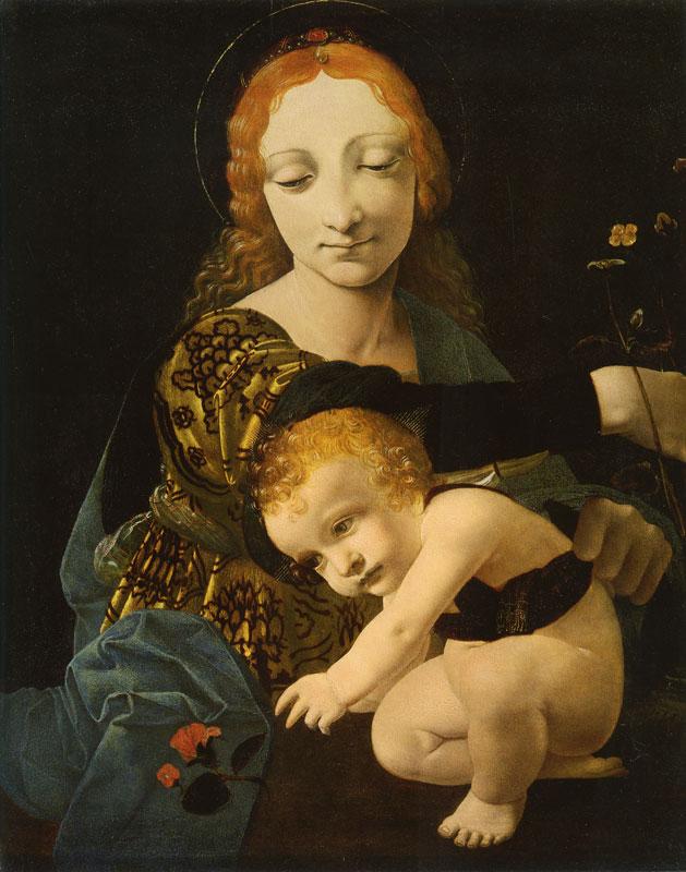 Giovanni Antonio Boltraffio madonna della rosa 1490 45x36