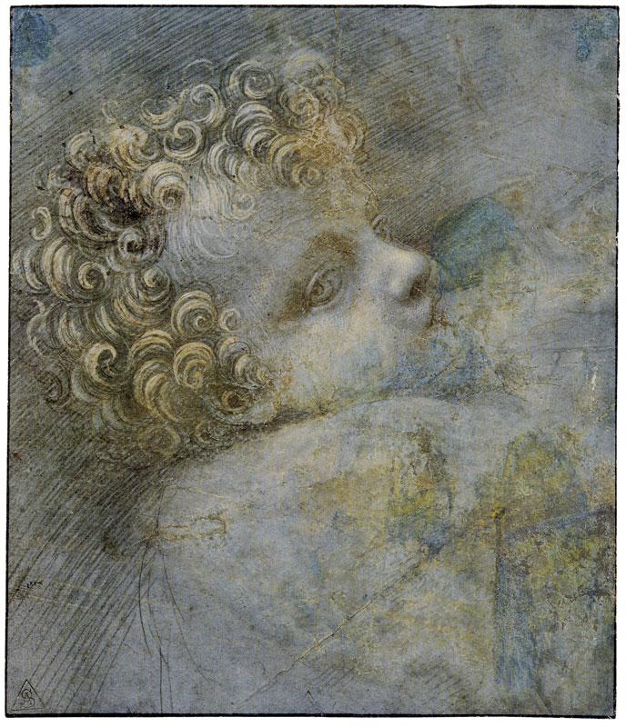 Giovanni Antonio Boltraffio studio per testa di cristo bambinoi 1490