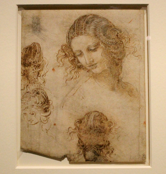 Leonardo da Vinci, Studi di testa femminile, 1505,1507
