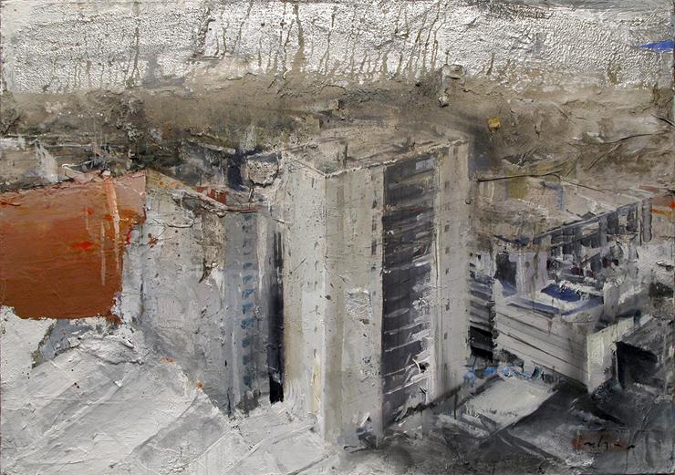 Marsiglia, 2004. Oil on canvas, 100 x 150 cm (39.4 x 59.1 in)