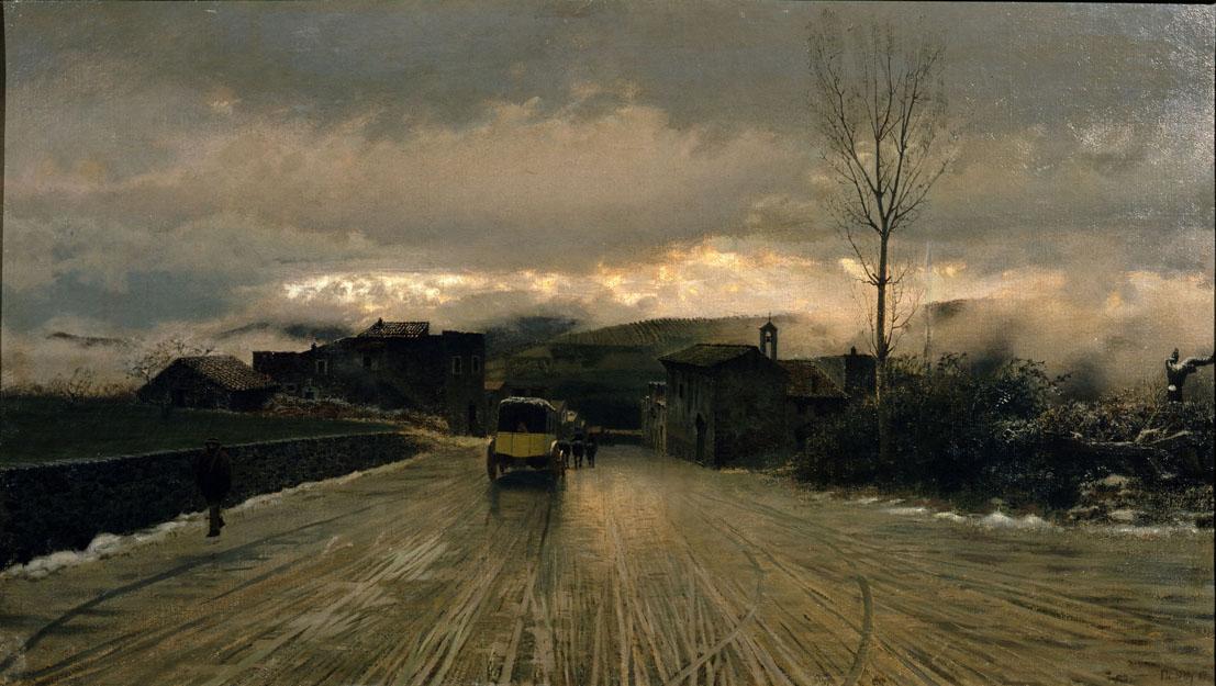 Giuseppe De Nittis Il passaggio degli Appennini, 1867