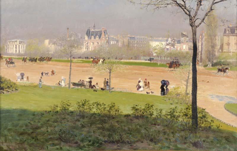 Giuseppe De NittisViale al Bois de Boulogne1882