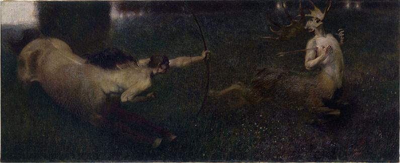 890 Fantastic Hunt by Franz von Stuck