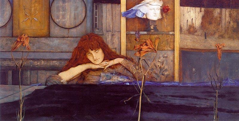 fernand-edmond-jean-marie-khnopff-ho-bloccare-la-mia-porta-su-me1891