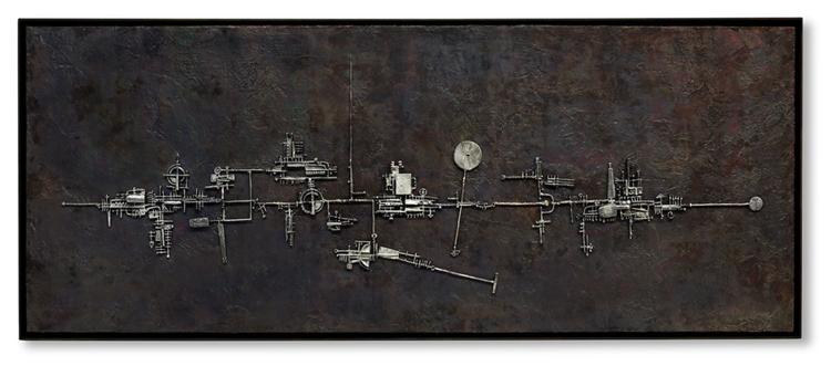 Orizzonte-1955-argento-e-lastra-di-rame-patinata-52.5-x-132.5-cm-photo-Dario-Tettamanzi